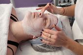 Beauty Treatment Of Young Female Face