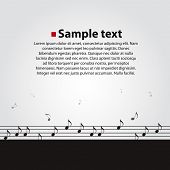 Musical vector dark background.