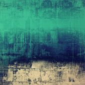 Aging grunge texture, old illustration. With different color patterns: blue; gray; green; cyan