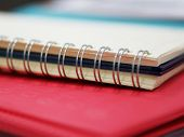 Spiral Memory Notebook At Office