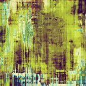 Old abstract grunge background, aged retro texture. With different color patterns: yellow (beige); green; purple (violet); cyan
