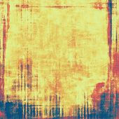 Abstract distressed grunge background. With different color patterns: red (orange); yellow (beige); blue; brown