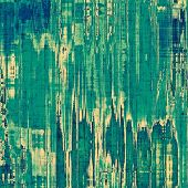 Computer designed highly detailed vintage texture or background. With different color patterns: blue; gray; green; cyan