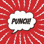 foto of nuke  - pop art retro theme vector graphic illustration - JPG