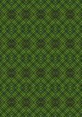 Green monochrome seamless background with geometric patterns