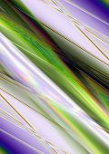 Abstract shiny background with green and purple waves