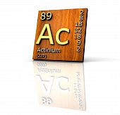 Actinium Form Periodic Table Of Elements - Wood Board