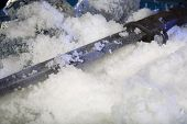 Frozen bayonet on ice