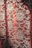 foto of lace-curtain  - A romantic style lace curtain with flower pattern