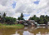 Waterside Scenery In Laos