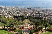 The Baha'i Gardens and the Bay of Haifa