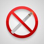 Sign no smoking allowed. Vector