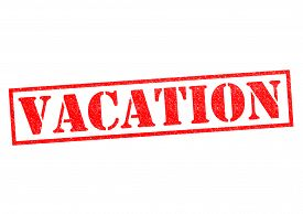 picture of sabbatical  - VACATION red Rubber Stamp over a white background - JPG