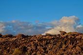 image of volcanic  - Volcanic Rock Basaltic Formation in Canary Islands - JPG
