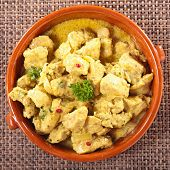 picture of curry chicken  - chicken and curry sauce - JPG