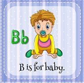 stock photo of letter b  - Flashcard letter B is for baby - JPG