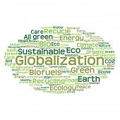 image of text cloud  - High resolution concept or conceptual abstract green ecology and conservation word cloud text on white background - JPG