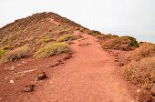 picture of dirt road  - Long Dirt Desert Road disappears into the Horizon - JPG