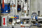 stock photo of gas-pipes  - manometers - JPG