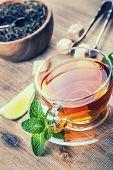 foto of darjeeling  - Tea in a glass cup - JPG