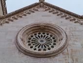 foto of rosettes  - The rosette of the cathedral of Saint Marco in Korcula city in Croatia - JPG