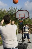 Father And Son Game Of Basketball