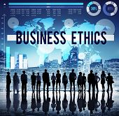 stock photo of morals  - Business Ethics Moral Responsibility Business Concept - JPG