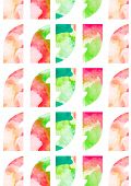 pic of quotation mark  - Quotation marks vector background illustration with floral watercolor pattern - JPG