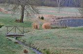foto of old bridge  - old garden bridge south Bohemia Czech Republic - JPG