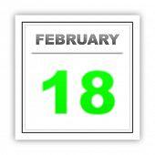 stock photo of february  - February 18 - JPG