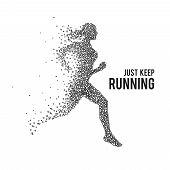 image of sprinter  - Running woman - JPG