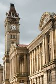 picture of west midlands  - A clock tower on Birmingham museum - JPG