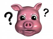 Piggy Emoticon - Inquisitive