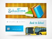 pic of time study  - Website header or banner set of back to school and school time - JPG