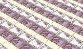 pic of colombian currency  - Colombian pesos bills stacks background - JPG