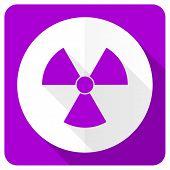 stock photo of atomizer  - radiation pink flat icon atom sign  - JPG