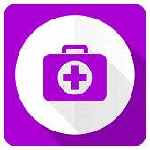 picture of first aid  - first aid pink flat icon hospital pink flat icon  - JPG
