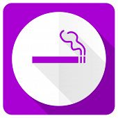 picture of marijuana cigarette  - cigarette pink flat icon nicotine sign  - JPG