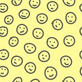 stock photo of emoticons  - Hand drawn emoticons - JPG