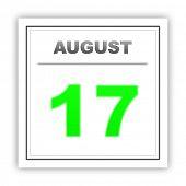 stock photo of august calendar  - August 17 - JPG
