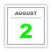 foto of august calendar  - August 2 - JPG