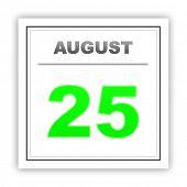 stock photo of august calendar  - August 25 - JPG