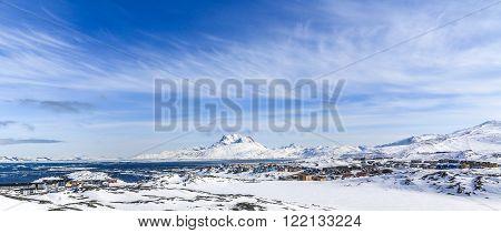 Arctic capital snow