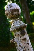Old Rusty Metal Post