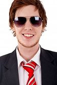 Smilig Business Man With Sunglasses