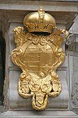 Medieval Golden Emblem poster