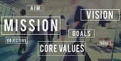 Mission Motivation Objective Plan Aspiration Concept poster