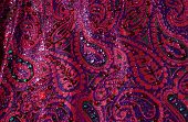 Paisley Fabric Red