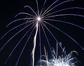 image of guy fawks  - fireworks during 2006 guy fawkes night in liverpool - JPG