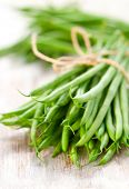 stock photo of green bean  - a bunch of green beans - JPG